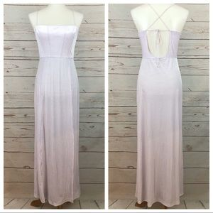 NWOT Free People Lilac Velvet Ribbed Maxi Dress